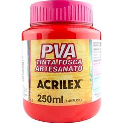 Tinta PVA Fosca para Artesanato Acrilex 250mL Vermelho Fogo