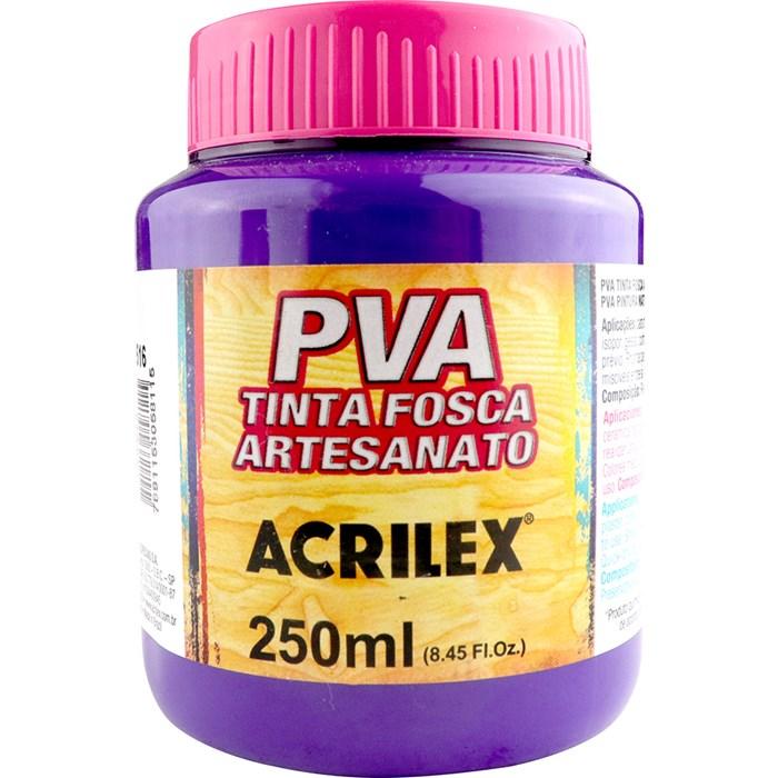 Tinta PVA Fosca para Artesanato Acrilex 250mL Violeta