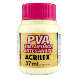 Tinta PVA Fosca para Artesanato Acrilex 37mL - 808 Amarelo Bebê