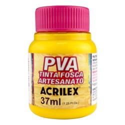 Tinta PVA Fosca para Artesanato Acrilex 37mL Amarelo Gema
