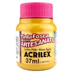 Tinta PVA Fosca para Artesanato Acrilex 37mL Amarelo Ocre