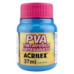 Tinta PVA Fosca para Artesanato Acrilex 37mL Azul Ceruleo