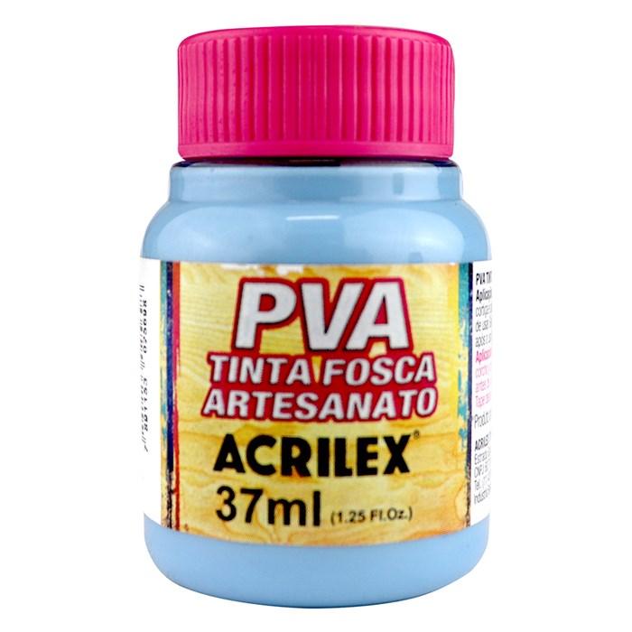 Tinta PVA Fosca para Artesanato Acrilex 37mL Azul Inverno