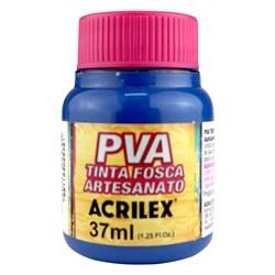 Tinta PVA Fosca para Artesanato Acrilex 37mL Azul Mar