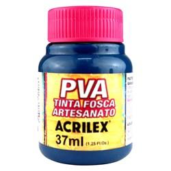 Tinta PVA Fosca para Artesanato Acrilex 37mL  Azul Petróleo