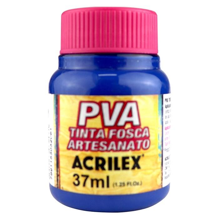 Tinta PVA Fosca para Artesanato Acrilex 37mL  Azul Turquesa