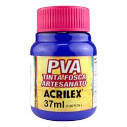 Tinta PVA Fosca para Artesanato Acrilex 37mL Azul Ultramar