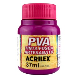 Tinta PVA Fosca para Artesanato Acrilex 37mL Magenta