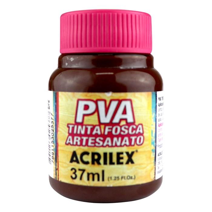 Tinta PVA Fosca para Artesanato Acrilex 37mL Marrom Escuro