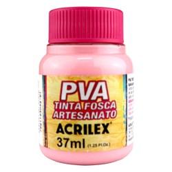 Tinta PVA Fosca para Artesanato Acrilex 37mL Rosa