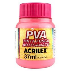 Tinta PVA Fosca para Artesanato Acrilex 37mL Rosa Chá