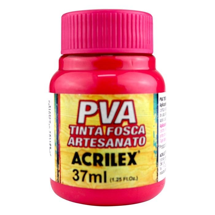 Tinta PVA Fosca para Artesanato Acrilex 37mL Rosa Escuro