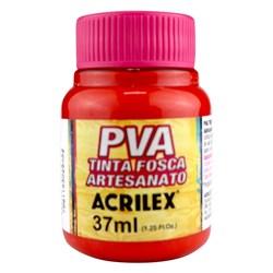 Tinta PVA Fosca para Artesanato Acrilex 37mL Vermelho Escarlate
