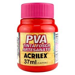 Tinta PVA Fosca para Artesanato Acrilex 37mL Vermelho Fogo