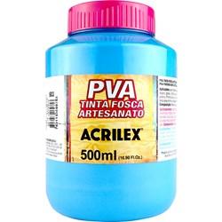 Tinta PVA Fosca para Artesanato Acrilex 500mL - 503 Azul Celeste