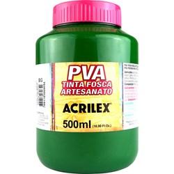 Tinta PVA Fosca para Artesanato Acrilex 500mL - 513 Verde Musgo