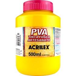 Tinta PVA Fosca para Artesanato Acrilex 500mL Amarelo Ouro