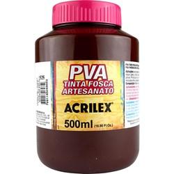 Tinta PVA Fosca para Artesanato Acrilex 500mL Marrom Escuro