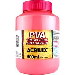Tinta PVA Fosca para Artesanato Acrilex 500mL Rosa Chá