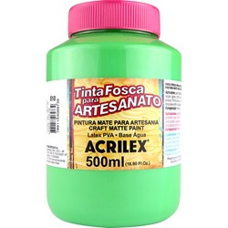 Tinta PVA Fosca para Artesanato Acrilex 500mL Verde Folha
