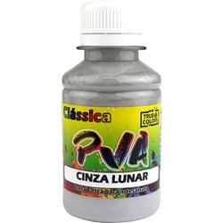 Tinta PVA Fosca para Artesanato True Colors 100mL - 7102 Cinza Lunar