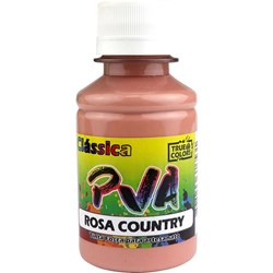 Tinta PVA Fosca para Artesanato True Colors 100mL - 7107 Rosa Country