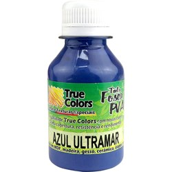 Tinta PVA Fosca para Artesanato True Colors 100mL - 7127 Azul Ultramar