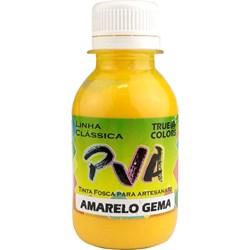 Tinta PVA Fosca para Artesanato True Colors 100mL Amarelo Gema