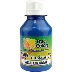 Tinta PVA Fosca para Artesanato True Colors 100mL Azul Colonial