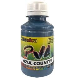 Tinta PVA Fosca para Artesanato True Colors 100mL Azul Country