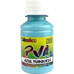 Tinta PVA Fosca para Artesanato True Colors 100mL Azul Turquesa