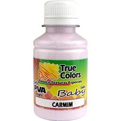 Tinta PVA Fosca para Artesanato True Colors 100mL Carmim