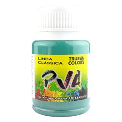 Tinta PVA Fosca para Artesanato True Colors 37mL Azul Caribe
