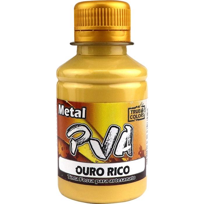 Tinta PVA Metal True Colors 100mL - Ouro Rico