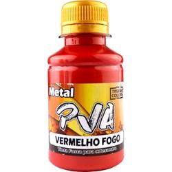 Tinta PVA Metal True Colors 100mL - Vermelho Fogo