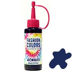 Tinta Tecido Acrilex Aquarela Silk Fashion Colors 60ml - 501 Azul Turquesa