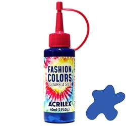 Tinta Tecido Acrilex Aquarela Silk Fashion Colors 60ml - 502 Azul Cobalto