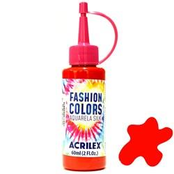 Tinta Tecido Acrilex Aquarela Silk Fashion Colors 60ml - 507 Vermelho Fogo