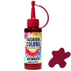 Tinta Tecido Acrilex Aquarela Silk Fashion Colors 60ml - 509 Vermelho Carmim