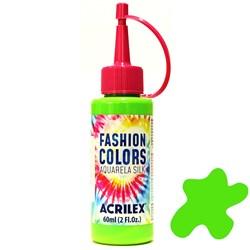 Tinta Tecido Acrilex Aquarela Silk Fashion Colors 60ml - 510 Verde Folha