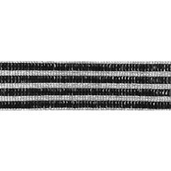 Tira Siliconada TL-003 Strass Cristal/Pedra preta