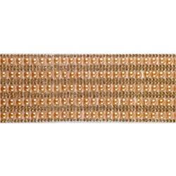 Tira Siliconada TL-008 Strass Cristal/Pérola Bronze 39cm- 5cm