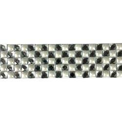 Tira Siliconada TL-011 Chaton Cristal/Pérola Branca 39cm- 4cm