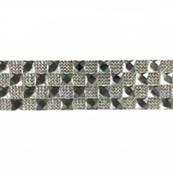 Tira Siliconada TL-012 Strass Cristal/Chaton Prata 39cm- 5cm