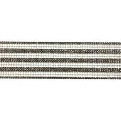 Tira Siliconada TL-014 Strass Cristal/Chaton Branco 39cm- 4,5cm