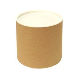 Tubo Lata em Papelão 10x10cm Tampa Plástica Branca
