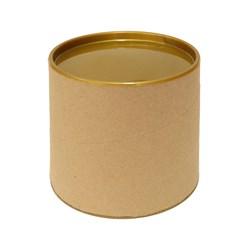 Tubo Lata em Papelão 10x10cm Tampa Plástica Dourada