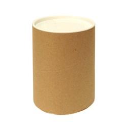 Tubo Lata em Papelão 14x10cm Tampa Plástica Branca