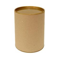 Tubo Lata em Papelão 14x10cm Tampa Plástica Dourada
