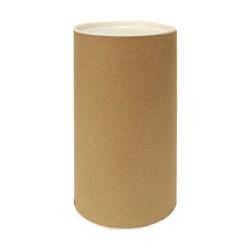 Tubo Lata em Papelão 20x10cm Tampa Plástica Branca